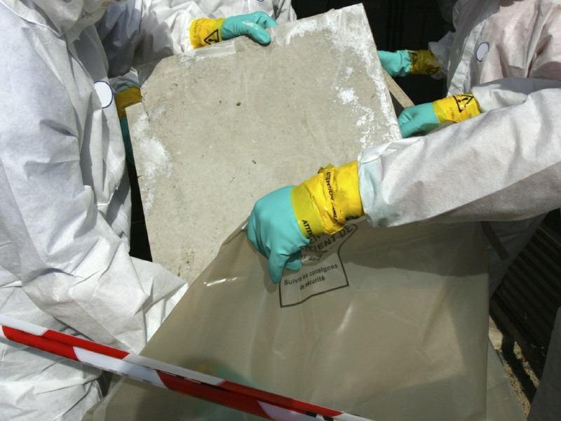 asbestos removing panels